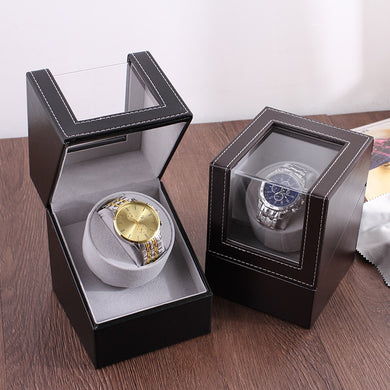 Hot Sale !!! Luxury High Quality Watch Winder Watch Holder Display box Automatic Mechanical Watch Winder Case Motor Shaker