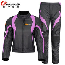 Load image into Gallery viewer, Riding Tribe Women's Motorcycle Jacket Protective Gear Jacket & Moto Pants Suit Jacket Waterproof Touring Motorbike Clothing Set