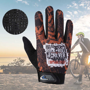 1 Pair Cycling Gloves Full Finger Shockproof Bike Touchscreen Unisex Hiking Ridding Gloves ALS88