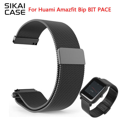 SIKAI Milanese Watch band 20mm Universal Replacement Strap for Samsung Galaxy Active Bracelet For Huami Amazfit Bip Bit Youth