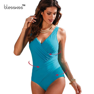 Plus Size Swimwear Women One Piece Swimsuit 2019