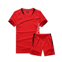 Load image into Gallery viewer, Soccer Set Jersey Sports Costumes for Kids Clothes Football Kits for Girls Summer Children Suits Boys Clothing Boys Set Uniforms