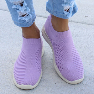 Plus Size 43 Sneakers Women Stretch Fabric Socks Shoe