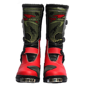 PRO-BIKER Motorcycle Boots Men Riding Boots Racing Motocross Boots Off-Road Motorbike Riding Moto Boots Waterproof Shoes