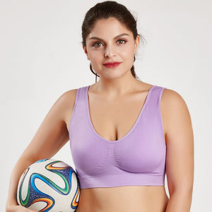 Queenral Plus Size Bras For Women Seamless Bra With Pads Big Size 5XL 6XL