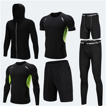 Load image into Gallery viewer, Running Training Clothes Men 7PCS/SETS Compression Running Sets Basketball Jogging Tights Underwear Set Gym Fitness Sports Suits