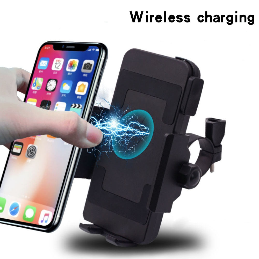2019 Motorcycle Phone Holder Qi Wireless Charger Motorcycle Charger Mount For Phones Fast Wireless Charging Moto Accessories