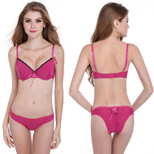 Load image into Gallery viewer, Sexy lace bra cups a low heart thin halter bra straps cross back female underwear.