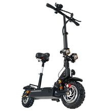 Load image into Gallery viewer, Electric scooter double drive with seat 60V/3200W adult fast folding scooter 11 inch road tire