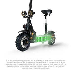 Electric scooter double drive with seat 60V/3200W adult fast folding scooter 11 inch road tire