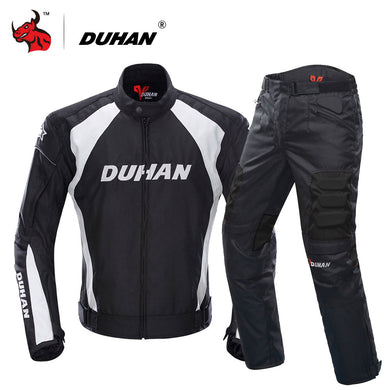 DUHAN Motorcycle Jacket Motocross Suits Jacket&Pants Moto Jacket Protective Gear Armor Men Motorcycle Clothing