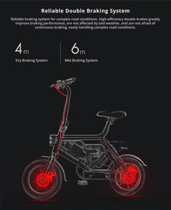 Portable Folding Electric Moped Bicycle Maximum speed 25km/h Smart bike Outdoor