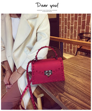 Load image into Gallery viewer, Ladies Shoulder Bag Rivet Clutches Square Jelly beach Crossbody Bag Luxury Handbag Women Bag Designer
