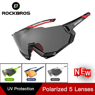 ROCKBROS Cycling Glasses Bicycle Glasses Polarized 5 Lens For Men Women Photochromic MTB Road Bike Eyewear Sport Sunglasses