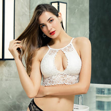Load image into Gallery viewer, Padded Bralette Deep V Lace Bras For Women