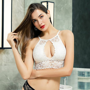 Padded Bralette Deep V Lace Bras For Women