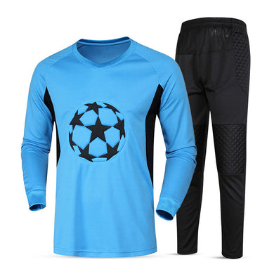 DIY New Soccer Goalkeeper Jersey Men Blank Sponge Survetement Football Goalkeeper Training Suit Quick Dry Soccer Jersey Uniforms