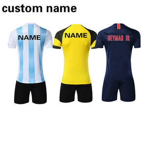 2018 - 2019 Football jerseys Adults & children jerseys Blank Soccer Training Suit Soccer Jersey & shorts Sportswear Customized