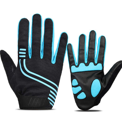 Thermal Anti-Slip Cycling Gloves Full Finger Touchscreen Outdoor Reflective Workout Gloves With 5MM Gel Shock-Absorbing Pad
