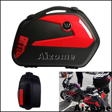 1set Universal Motorcycle Side Cases Panniers 20L Cargo Boxes Motorbike Luggage Tail Box For Honda Yamaha Suzuki Kawasaki BMW