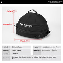 Load image into Gallery viewer, Rock Biker Motorcycle Helmet Bags Breathable Cooling Fan Top Case Motorbike Multi-functional Touring Luggage Bags Large Capacity