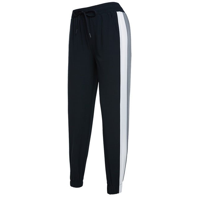 Women's Running Sports Trousers Vansydical 2019 Fitness Jogger Pants Loose Basketball Training Trousers Spliced Colors