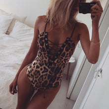 Load image into Gallery viewer, 2019 Women Ladies Sexy Leopard One Piece Swimsuit