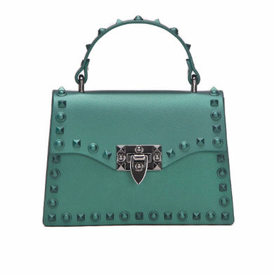 Ladies Shoulder Bag Rivet Clutches Square Jelly beach Crossbody Bag Luxury Handbag Women Bag Designer