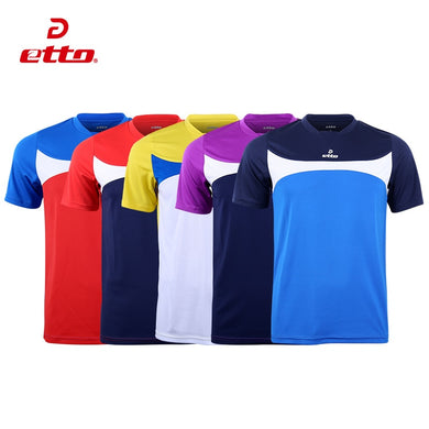 Etto Quality Xxs~4xl Adult & Kids Short Sleeve Soccer Jersey Men Boy Football Team Uniform Quick Dry Soccer Training Suit HUC005