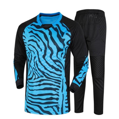 New Kids Men Soccer Goalkeeper Sets Survetement Football Jerseys Suit Sponge Protector DIY Football Goalkeeper Training Uniforms