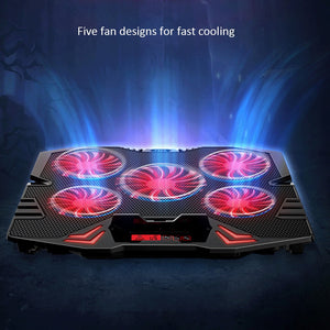 Laptop cooler 2 USB Ports and Five cooling Fan laptop cooling pad 12-17 inch for Laptop