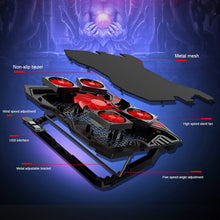 Load image into Gallery viewer, Laptop cooler 2 USB Ports and Five cooling Fan laptop cooling pad 12-17 inch for Laptop