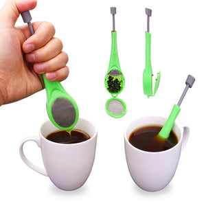 Creative Reusable Tea Infuser Tea Filter Strainers Built-in Plunger for Healthy Intense Flavor