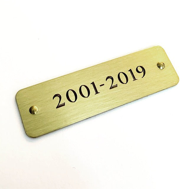 Engraved Self Adhesive Tag | Engraved Sticky Tags | Rivets  1-4 lines