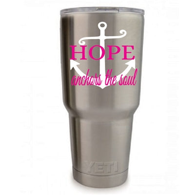 Hope Anchors The Soul Vinyl Monogram Decal