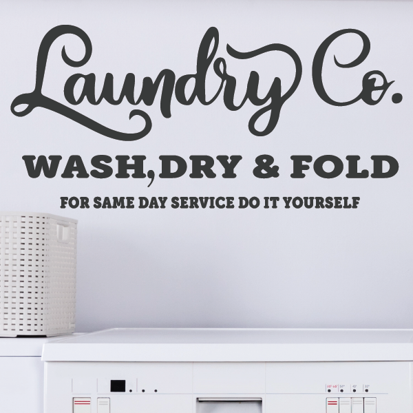 Laundry Room Decor Vinyl Decal | Laundry Co.