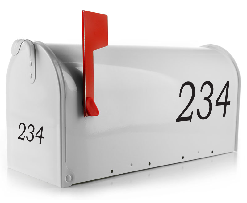 If you're looking to keep it basic, yet classy, this mailbox decal is the perfect choice. Customized with your street number in your choice of over 20 colors, your mailbox decal will come sized to fit. (1754316701742)