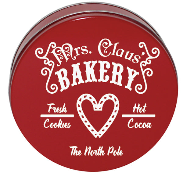 Mrs. Claus Bakery Cookie Tin Decal