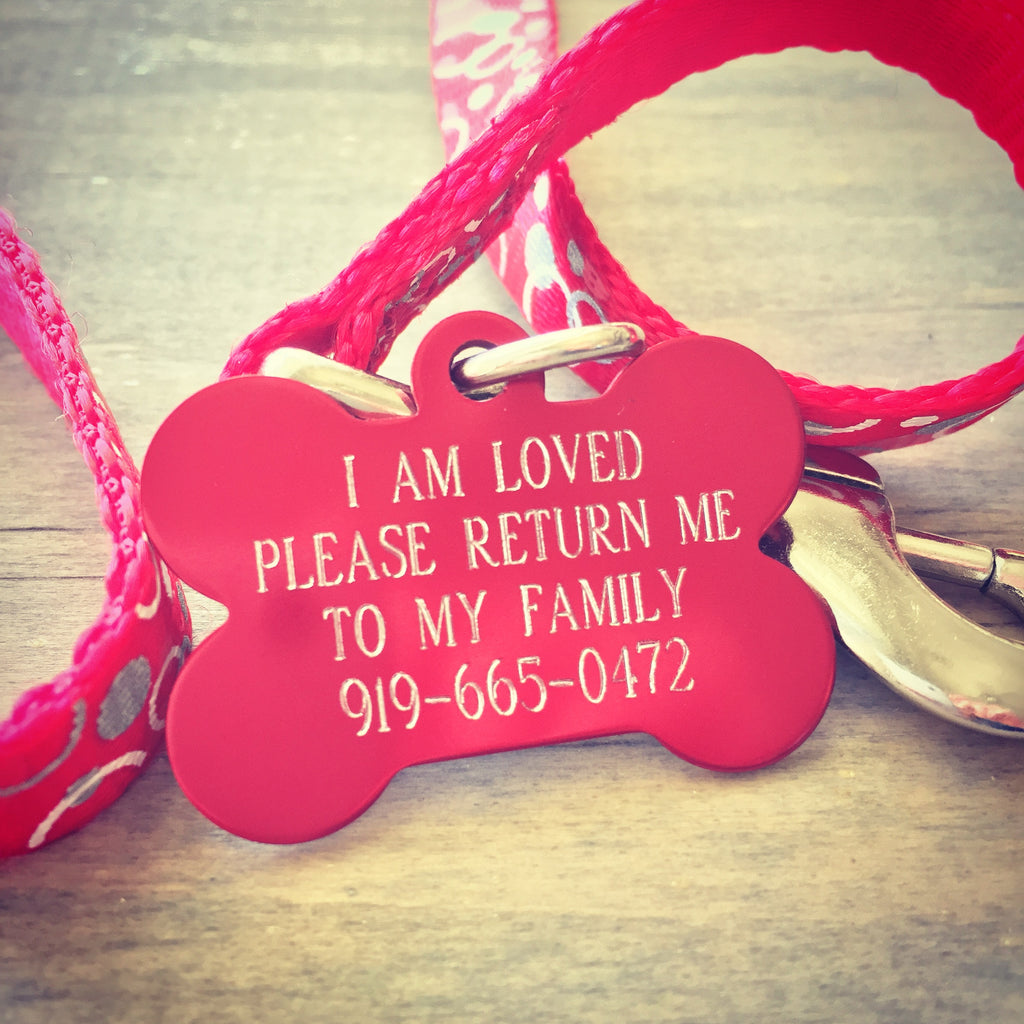Pet ID Tag - I Am Loved