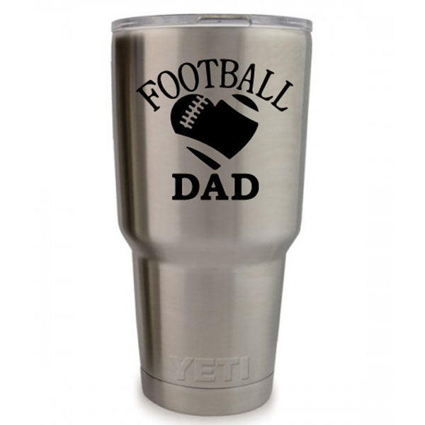 Football Dad Vinyl Decal