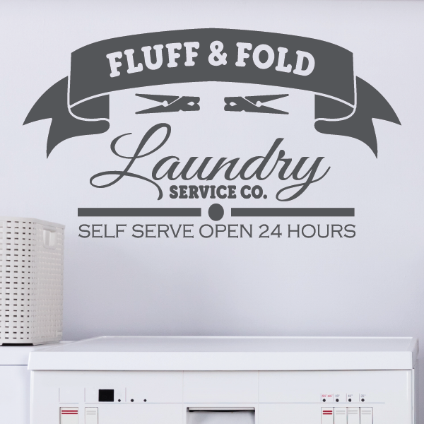 Laundry Room Decor Vinyl Decal | Fluff & Fold