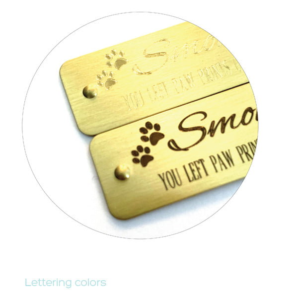 Self Adhesive Paws | Pet Memorial | Engraved Sticky Tags | Rivets