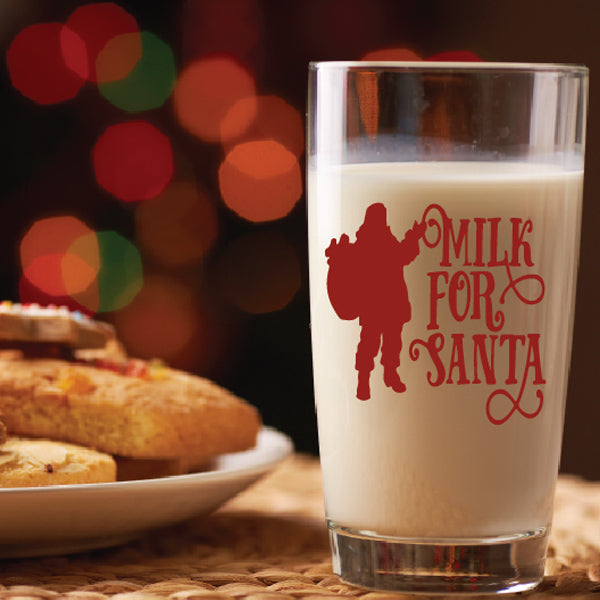 Milk For Santa Decal