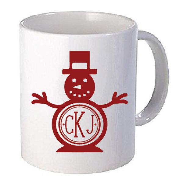 Snowman Monogram Decal