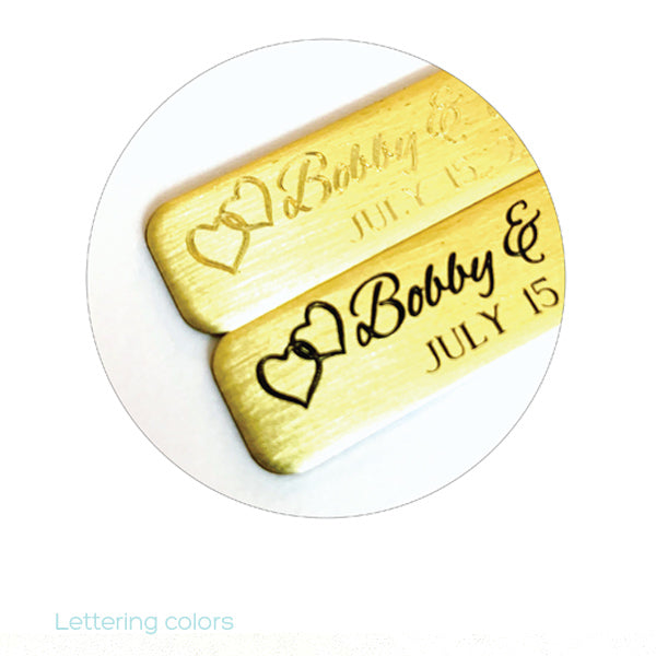 Self Adhesive Hearts | Wedding Tags | Engraved Sticky Tags