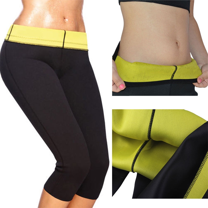 Running Yoga Shorts Pants Outdoors Training Weight Loss Sports Trousers Tights Hot Neoprene Shaper Slimming Sport Pants