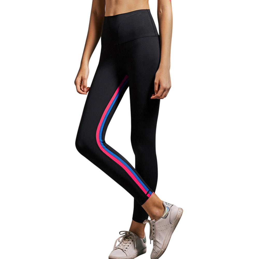 Rainbow Accented Fitness & Yoga Pants