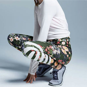 Floral Printed Yoga Workout Leggings