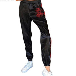 Embroidered Sportswear High Waist Pant