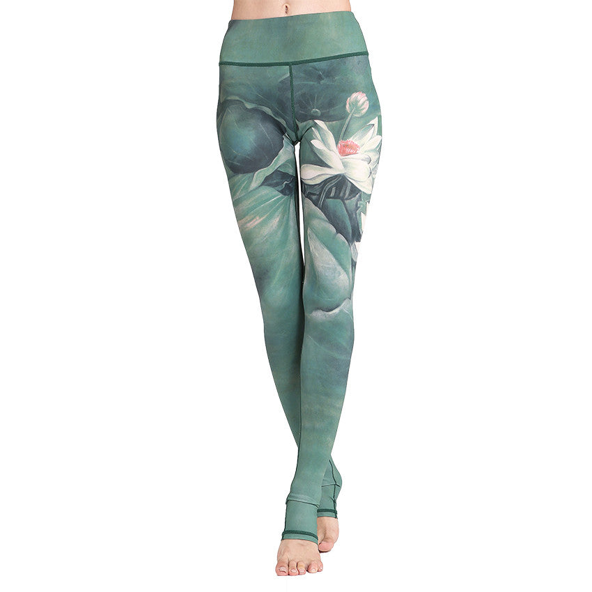 Ink-Wash Print Long Leg Fit Legging